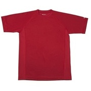 RAKUシャツ SPORTS (吸汗速乾) 半袖 [ユニセックス 4Lサイズ エンジ]