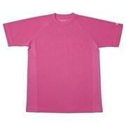 RAKUシャツ SPORTS (吸汗速乾) 半袖 [ユニセックス LLサイズ チェリーピンク]
