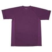 RAKUシャツ SPORTS (吸汗速乾) 半袖 [ユニセックス Lサイズ パープル]