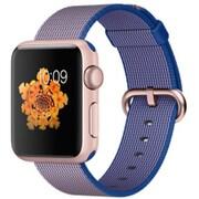 Apple Watch 38mm ローズアルミニウムケースとロイヤルブルーウーブンナイロン