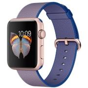 Apple Watch 42mm ローズアルミニウムケースとロイヤルブルーウーブンナイロン