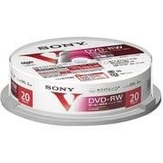20DMW12MLPP [ビデオ用DVD-RW 120分 1-2倍速 ホワイトレーベル インクジェットプリンター対応 スピンドルタイプ 20枚]