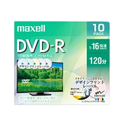 DRD120PME.10S [録画用DVD-R インクジェットプリンター対応 デザインプリントレーベル 120分 10枚]