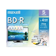 BRV25PME.5S [録画用BD-R インクジェットプリンター対応 デザインプリントレーベル 片面1層(25GB) 5枚]