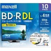 BRV50WPE.10S [録画用BD-R DL インクジェットプリンター対応 デザインプリントレーベル 片面2層(50GB) 10枚]