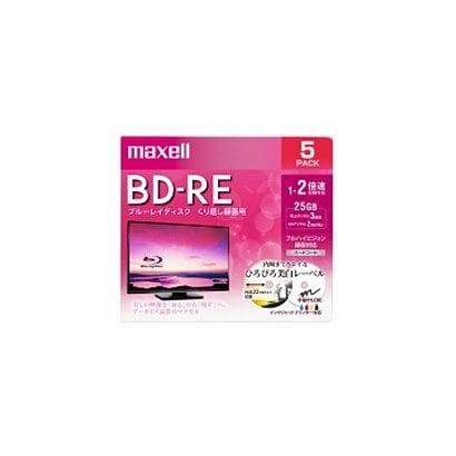 BEV25WPE.5S [録画用BD-RE インクジェットプリンター対応 ひろびろ美白レーベル 片面1層(25GB) 5枚]