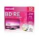 BEV25WPE.10S [録画用BD-RE インクジェットプリンター対応 ひろびろ美白レーベル 片面1層(25GB) 10枚]