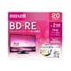 BEV25WPE.20S [録画用BD-RE インクジェットプリンター対応 ひろびろ美白レーベル 片面1層(25GB) 20枚]