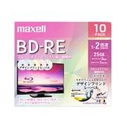 BEV25PME.10S [録画用BD-RE インクジェットプリンター対応 デザインプリントレーベル 片面1層(25GB) 10枚]