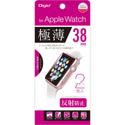 SMW-AW381FLGT [Apple Watch 38mm用 液晶保護フィルム 極薄反射防止マット 気泡レス2枚組]