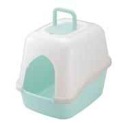 コロル フード付ネコトイレ ライトブルー [猫用トイレ 固まる猫砂用]