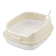コロル ネコトイレ 55Hすのこ付 ベージュ [猫用トイレ 固まらない大粒の猫砂用]
