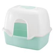 コロル ネコトイレ F60フード付 ライトブルー [猫用トイレ 固まる猫砂用]