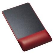 MPD-GELPHR [リストレスト付きマウスパッド レザー調素材 高さ高め レッド]