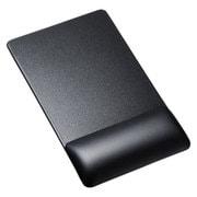 MPD-GELPNBK [リストレスト付きマウスパッド レザー調素材 高さ標準 ブラック]