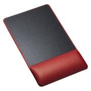 MPD-GELPNR [リストレスト付きマウスパッド レザー調素材 高さ標準 レッド]