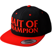 BAIT OF CHAMPION CAP ブラック/レッド [スナップバックキャップ]