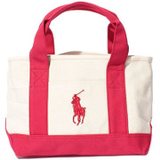 959037A [ASHLEY SCHOOL TOTE SM - IVORY/RED]