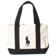 959038A [BRISTOL SCHOOL TOTE MD - IVORY/BLACK]