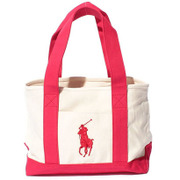 959040A [BRISTOL SCHOOL TOTE MD - IVORY/RED]