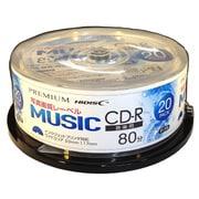 HDSR80GMP20SN [音楽用CD-R 20枚 スピンドル 写真画質レーベル]