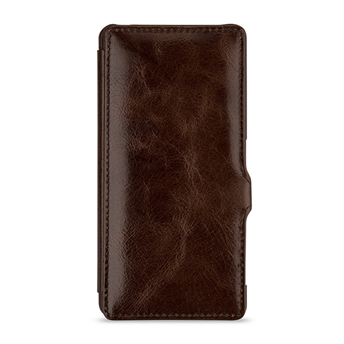 CBR-SYXXPGTMS4EACBST BONRONI Premium Leather Case for Xperia X Performance Book w/stand 濃茶 [スマートフォンケース]