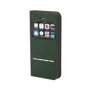 iPhone SE/5s/5専用 CERTA FLIP [ケルタフリップ窓付きダイアリーケース グリーン]