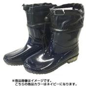 SS-0188 [婦人PVCお手軽ブーツ ネイビー M (23.0~23.5cm)]