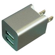 BAC2U24SGY [プレミアムシリーズ AC充電器 2台同時充電 USB2ポート 2.4A スペースグレー]