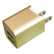 BAC2U24SGD [プレミアムシリーズ AC充電器 2台同時充電 USB2ポート 2.4A ゴールド]