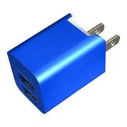 BAC2U24SBL [プレミアムシリーズ AC充電器 2台同時充電 USB2ポート 2.4A ブルー]