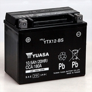YTX12-BS 台湾ユアサ [バイク用バッテリー 電解液注入済]