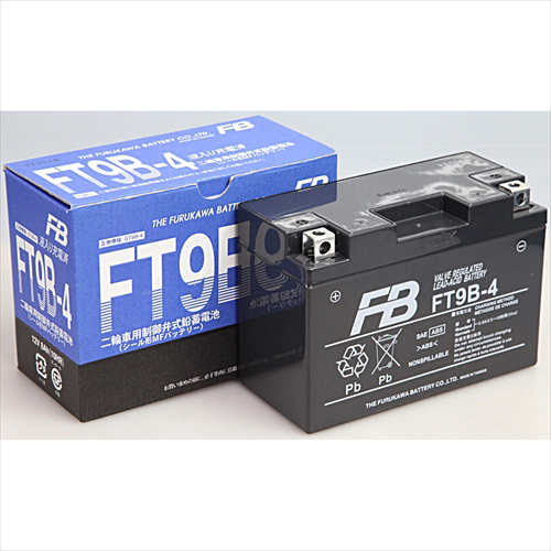 FT9B-4 [バイク用バッテリー 電解液注入済]