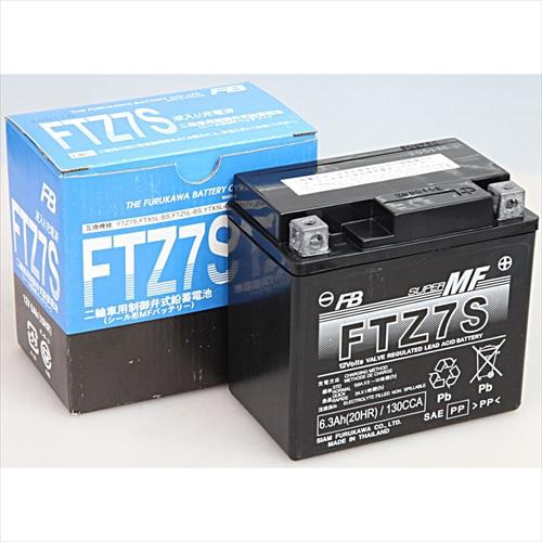 FTZ7S [バイク用バッテリー 電解液注入済]