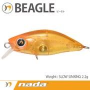 nada. BEAGLE (SS) クリアオレンジゴールドグリッター [ミノー]