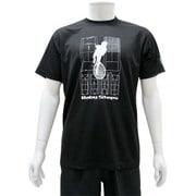 スポーツTシャツ ベイビーステップ シルエット柄 Mサイズ 40.ブラック [キャラクター衣料]