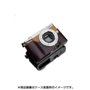 XS-CHGX7MK2BR [パナソニック DMC-GX7Mark2用 本革カメラハーフケース ブラウン]