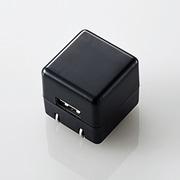 MPA-ACUAN007BK [スマートフォン用 AC充電器 CUBE 1A出力 USB1ポート ブラック]