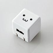 MPA-ACUAN007WF [スマートフォン用 AC充電器 CUBE 1A出力 USB1ポート FACE]