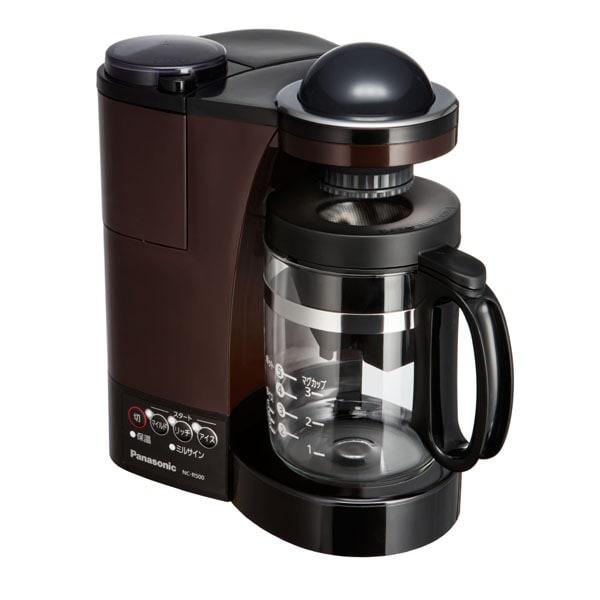 NC-R500-T [ミル付き 浄水 コーヒーメーカー ステンレスフィルター付き ブラウン]