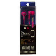 BSE01PK [iPhone/スマートフォン用 ステレオイヤホン ピンク]