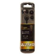 BSE02BK [iPhone/スマートフォン用 ステレオイヤホン フラットケーブル ブラック]