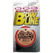 BL-122 [ボウ・ライン カジュアルテープ 幅20mm×巻6m ブラック]