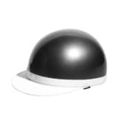 7103 [白ツバ半キャップヘルメット ガンメタ KC-100A]