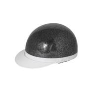 7109 [白ツバ半キャップヘルメット ブラックラメ KC-100A]