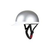 710911 [白ツバ半キャップヘルメット シルバー KC-100A XL]