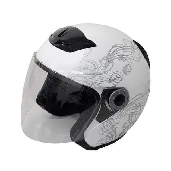 721002 [グラフィックジェットヘルメット ホワイト A-225 M]