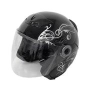 7211 [グラフィックジェットヘルメット ブラック A-225]