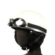 7408 [ヘルメット 半帽 ゴーグル付 ベージュ KC-012E]