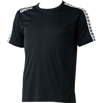 ARN6331-BLK-O [チームラインTシャツ ユニセックス Oサイズ ブラック]